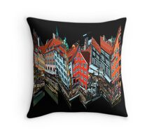 Nyhavn Collage 2 Throw Pillow