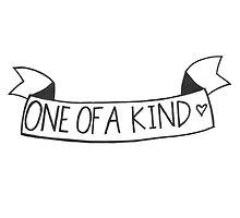 """one of a kind"" banner by Savannah Newton"