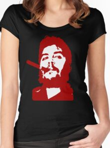 Che Guevara Cigar On Women's Fitted Scoop T-Shirt