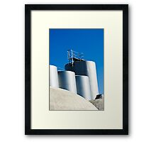 Stainless steel tanks in a winery, Portugal Framed Print