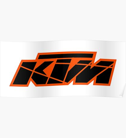 KTM Black on Orange Poster