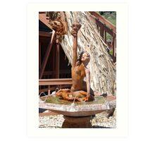 Mermaid Fountain Art Print
