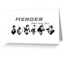 Heroes Headshots Landscape Greeting Card