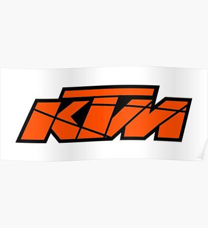 KTM - Orange on Black Poster