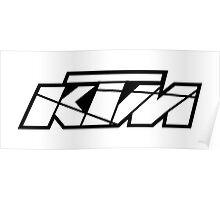KTM - White on Black Poster