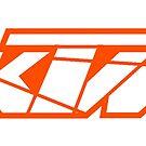 KTM - White on Orange by frenzix
