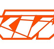 KTM - White on Orange by frenzix
