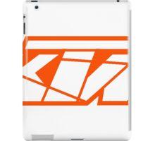 KTM - White on Orange iPad Case/Skin