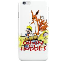 calvin and hobbes naruto funny iPhone Case/Skin