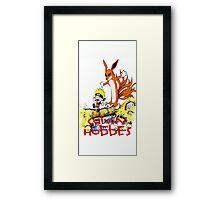 calvin and hobbes naruto funny Framed Print