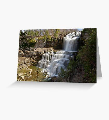 An Overview - Chittenango Falls Greeting Card