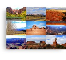 Collage of Utah Landscape Icons Canvas Print