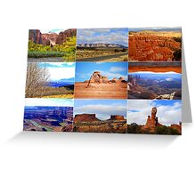 Collage of Utah Landscape Icons Greeting Card
