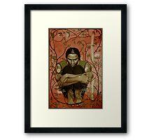 Wolf Rose Framed Print