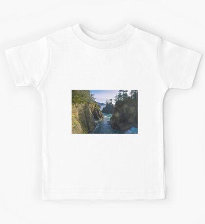 Natural Bridges Cove, Samuel H Boardman State Park, Curry County, Oregon Kids Tee