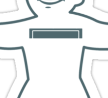 Vault Boy - T-Shirt/Sticker (Dark Blue) Sticker