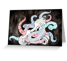 dragon snakes  Greeting Card