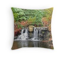 Stanley Park Waterfall Throw Pillow
