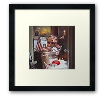 """""""Obama....Revolutionaries.....and the Ghosts of Taliban""""...... Framed Print"""