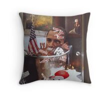 """Obama....Revolutionaries.....and the Ghosts of Taliban""...... Throw Pillow"