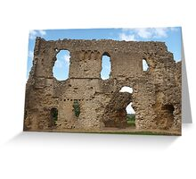 Sherborne Old Castle (7) Greeting Card