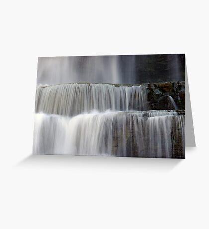 Cascades - Chittenango Falls Greeting Card
