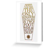 BMTH Coffin Kingdom Greeting Card