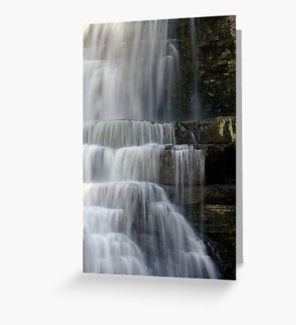 Cascades - Chittenango Falls - Vertical Greeting Card