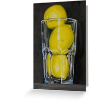 Glass of Lemons Greeting Card