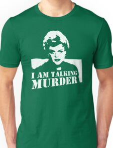 stencil Murder She Wrote Deadly Lady Unisex T-Shirt