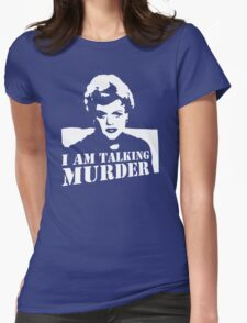 stencil Murder She Wrote Deadly Lady Womens Fitted T-Shirt