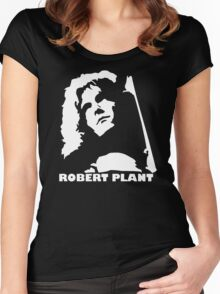 stencil Robert Plant Women's Fitted Scoop T-Shirt