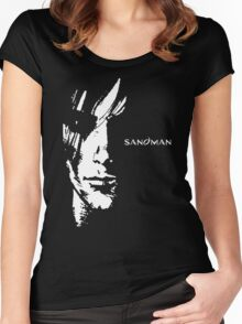 stencil Sandman Women's Fitted Scoop T-Shirt