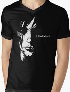 stencil Sandman Mens V-Neck T-Shirt