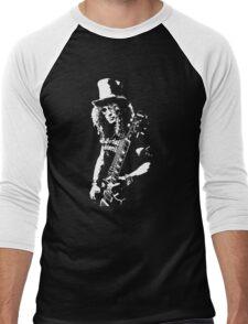 stencil Slash Guns N Roses Rock Band Men's Baseball ¾ T-Shirt