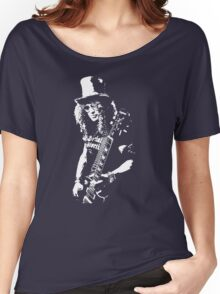 stencil Slash Guns N Roses Rock Band Women's Relaxed Fit T-Shirt