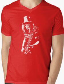 stencil Slash Guns N Roses Rock Band Mens V-Neck T-Shirt