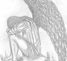 Angel Of Sorrow Weeping by autumndomoslai