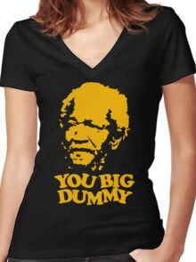 stencil You Big Dummy Women's Fitted V-Neck T-Shirt