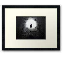 Walking Through the Darkness Towards the Light Framed Print