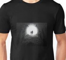 Walking Through the Darkness Towards the Light Unisex T-Shirt