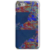 Coming of the Canvas in Blues iPhone Case/Skin