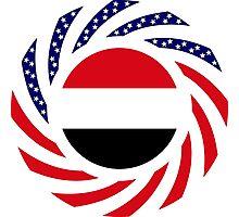 Yemeni American Multinational Patriot Flag Series Photographic Print
