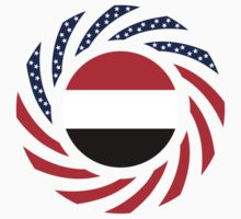 Yemeni American Multinational Patriot Flag Series by Carbon-Fibre Media