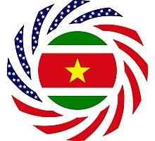Surinamese American Multinational Patriot Flag Series Photographic Print