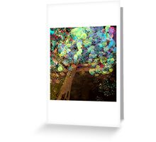 Colorful Confetti Tree Abstract Greeting Card