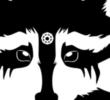 Lexa - Commander Raccoon Eyes Sticker