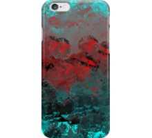 Cool Aqua and Red Abstract iPhone Case/Skin