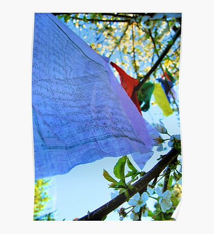 Tibetan Flags Poster