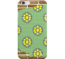 Brick Wall Flower iPhone Case/Skin